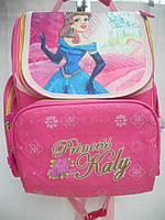 Детский школьный рюкзак Princess Kaly ранец портфель недорого плотный текстиль оптом 7 км Г1575/2445