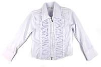 Белая блузка для девочки 122 р.