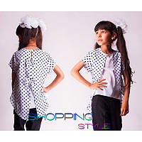 Блузка для девочки школьная модная