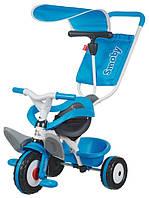Велосипед Smoby 3 в 1  с багажником и козырьком Синий (444208)