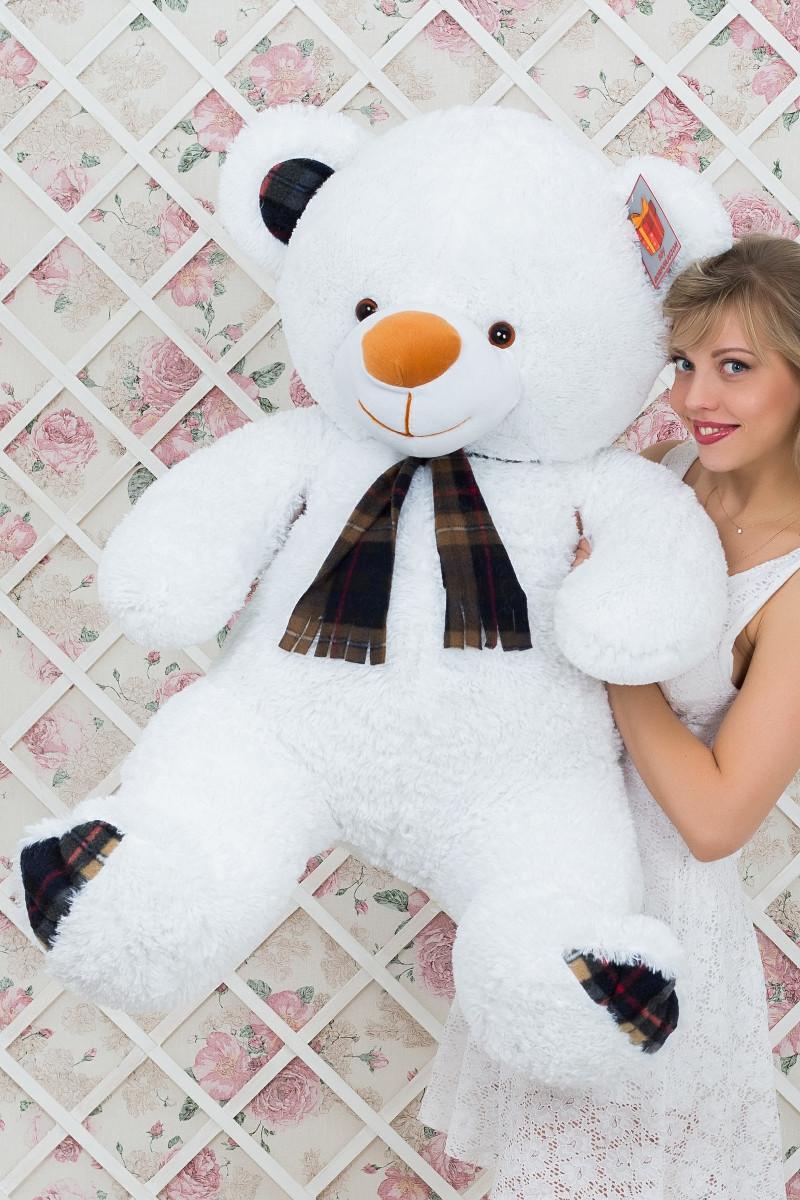 Мишка плюшевый Барбари белый 120 см