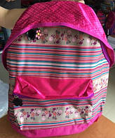"""Рюкзак школьный для девочек, розовый """"Сердечки"""""""
