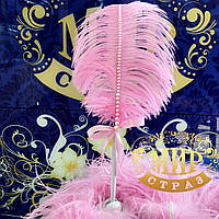 Ручка с розовым пером для свадебной церемонии