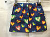 Детская коттоновая юбка Сердечки для девочки 2-6 лет,темно синяя
