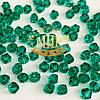 Бусины биконусы премиум Green Zircon 4mm (1шт)