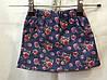Детская коттоновая юбка Розочки для девочки 2-6 лет,темно синяя