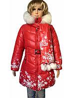 Пальто зимнее снежинка