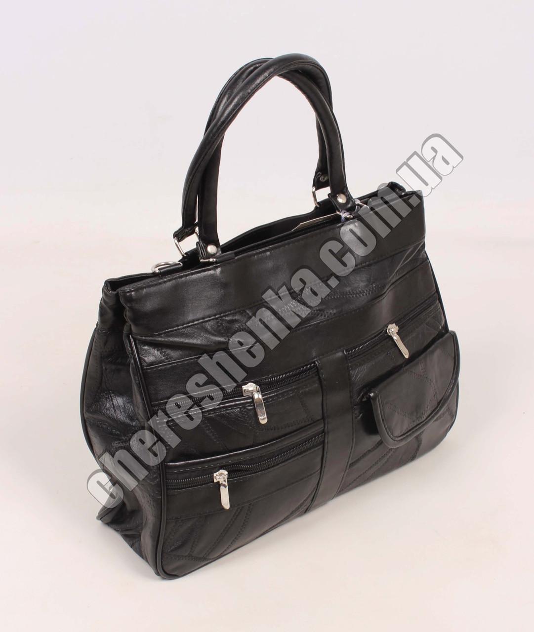 Женская сумочка кожаная из кусочков Tongle 8064