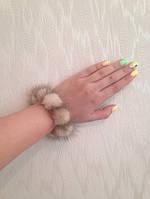 Норковый браслет,  резинка  для волос, цвет Колотый лёд, фото 1