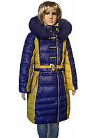 Пальто зимнее на 9-16 лет