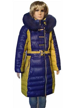 Пальто зимнее на 9-12 лет, фото 2