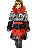 Зимнее пальто орнамент