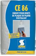 Шпаклівка тріщиностійка Semin CE-86 25 кг . (франція)