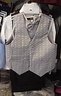 Дитячий нарядний костюм р. 2-6 років (брюки, жилет, метелик)