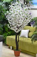 Искусственное цветущие растения Сакура белая