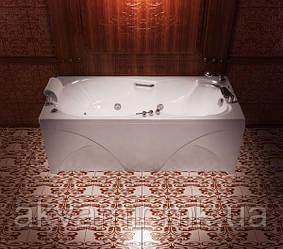 Ванна акриловая Тритон Цезарь 180х80х64.5  прямоугольная с каркасом и панелью