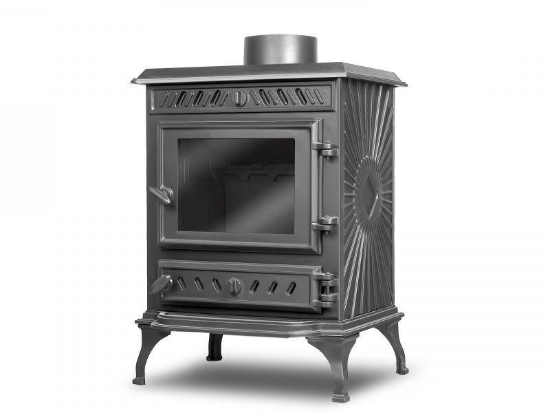 Чугунная печь-камин   p3, 6кВт   Kawmet