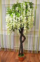 Искусственное растения Глициния White-2 180 см