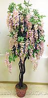 Искусственное растения Глициния розовая 180 см