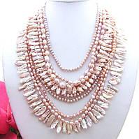 Эксклюзивное Крупное Ожерелье из редкого  Жемчуга Бива / Кеши / Барокко
