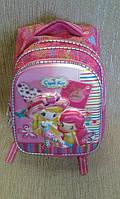 Школьный ранец для девочки, качественный, розовый(Турция)(