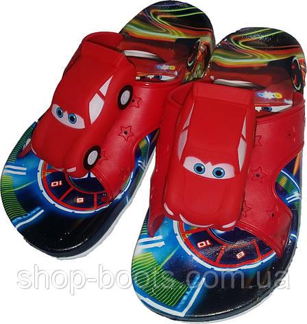 Детские шлепанцы с игрушкой оптом Gipanis  25-32рр. Модель Тачки, фото 2