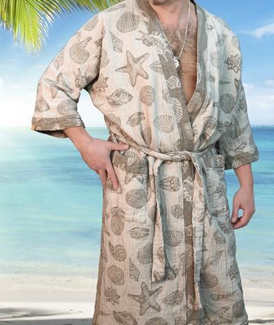 Экологичный халат для бани = природный пилинг для Вашей кожи !