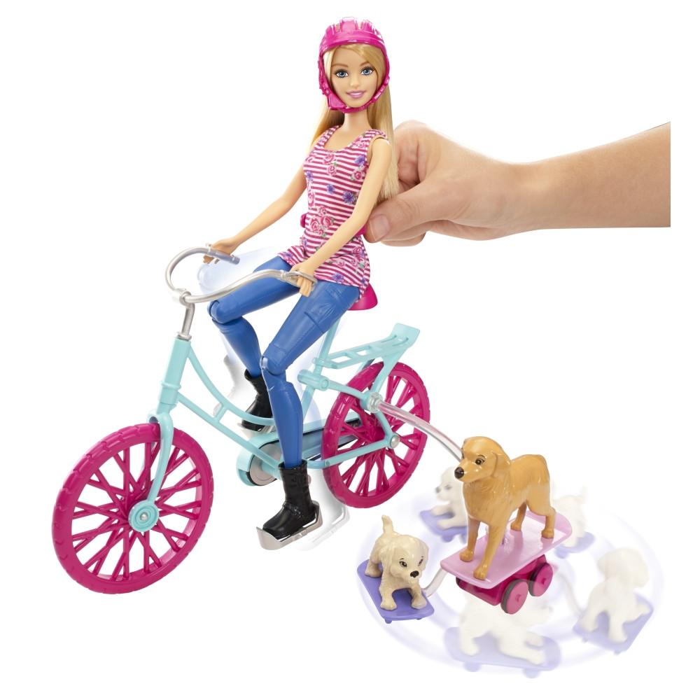 Кукла Барби с собачками на велосипеде Barbie Spin 'N Ride Pups