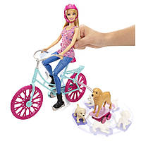 Кукла Барби с собачками на велосипеде Barbie Spin 'N Ride Pups, фото 1