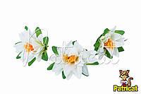 Цветы Кувшинка Белая из ткани 12 см 1 шт