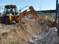 Аренда экскаватора-погрузчика JCB 3CX земляные работы, копание траншей, выемку грунта