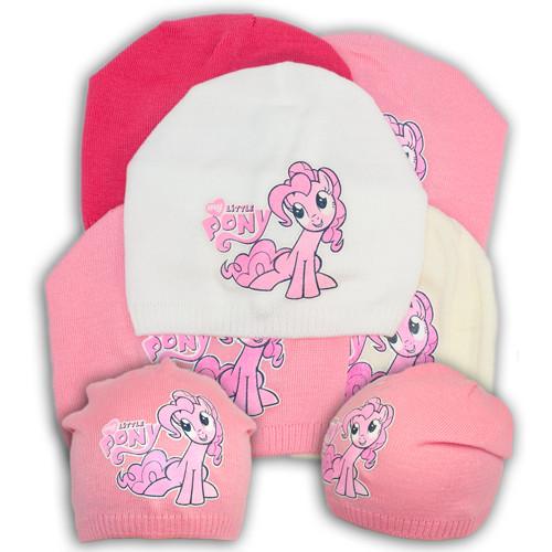 """Вязаная шапка для девочки с принтом """"Pony"""""""