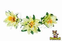 Цветы Кувшинка Лимонные из ткани 12 см 1 шт
