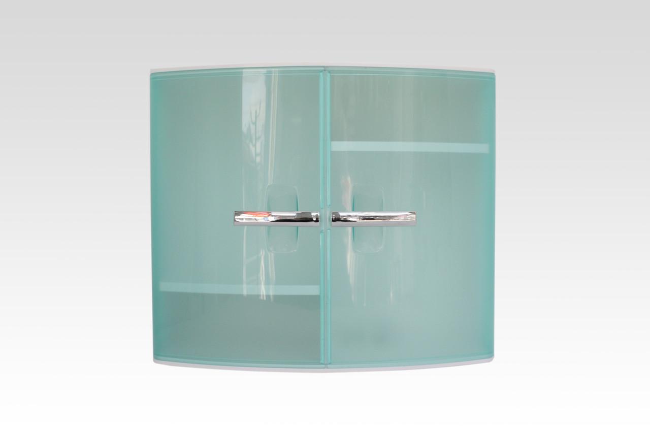 Шкафчик для ванной с дверцами бирюзового цвета