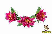 Цветы Кувшинка Розовые из ткани 12 см 1 шт
