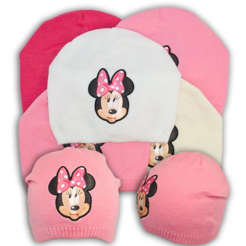 "Вязаная шапка для девочки с принтом ""Minnie mouse"""