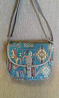 Клатч молодежный с орнаментом из плотной ткани(Турция)