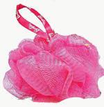Розовая мочалка для душа 10485
