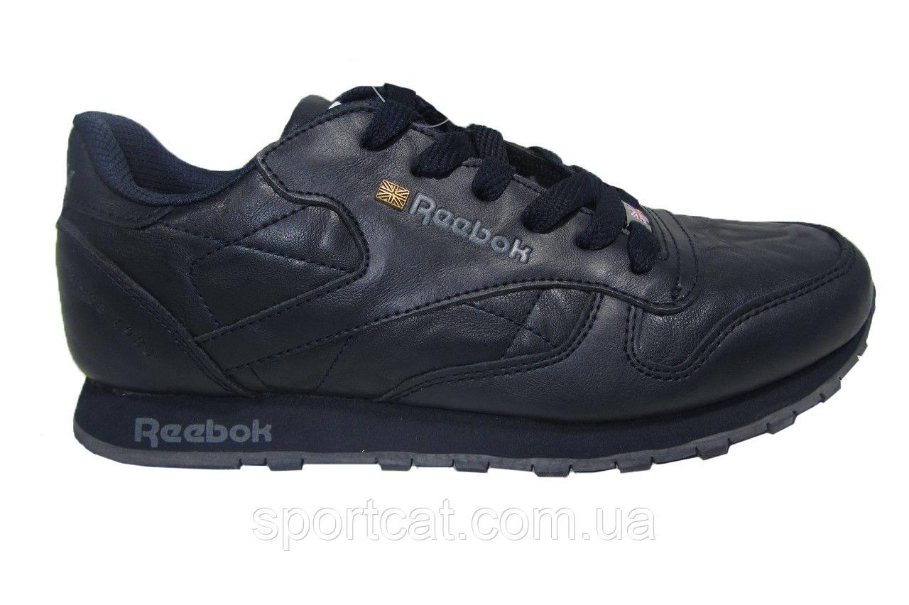 Мужские повседневные кроссовки Reebok, кожа, синие