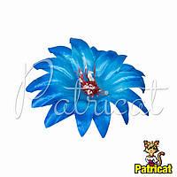 Цветы Крокус Синий из ткани 13 см 1 шт