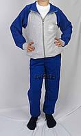 Костюм спортивный размеры 128 см - 146 см код 3-5 цвет серый с голубым