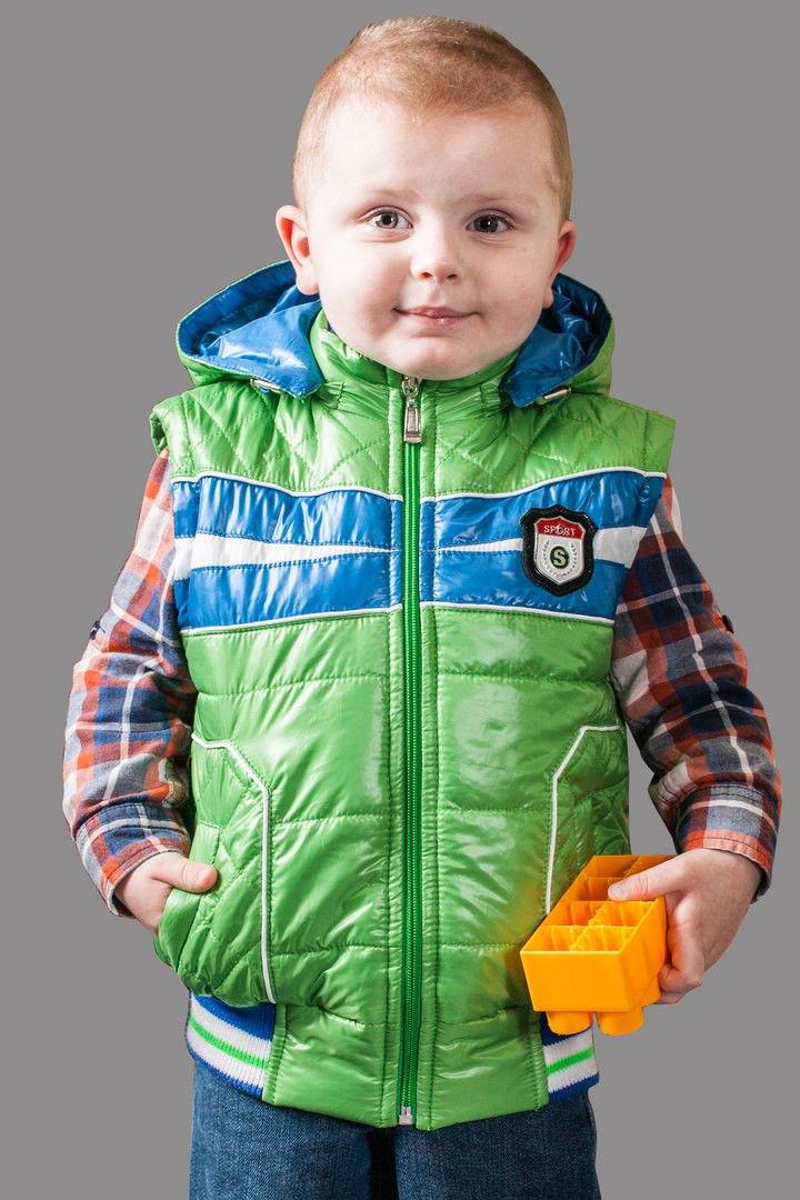 Демисезонная куртка-жилетка цвет - зеленый