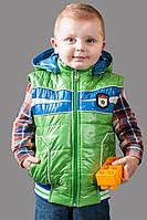 Демисезонная куртка-жилетка цвет - зеленый, фото 1