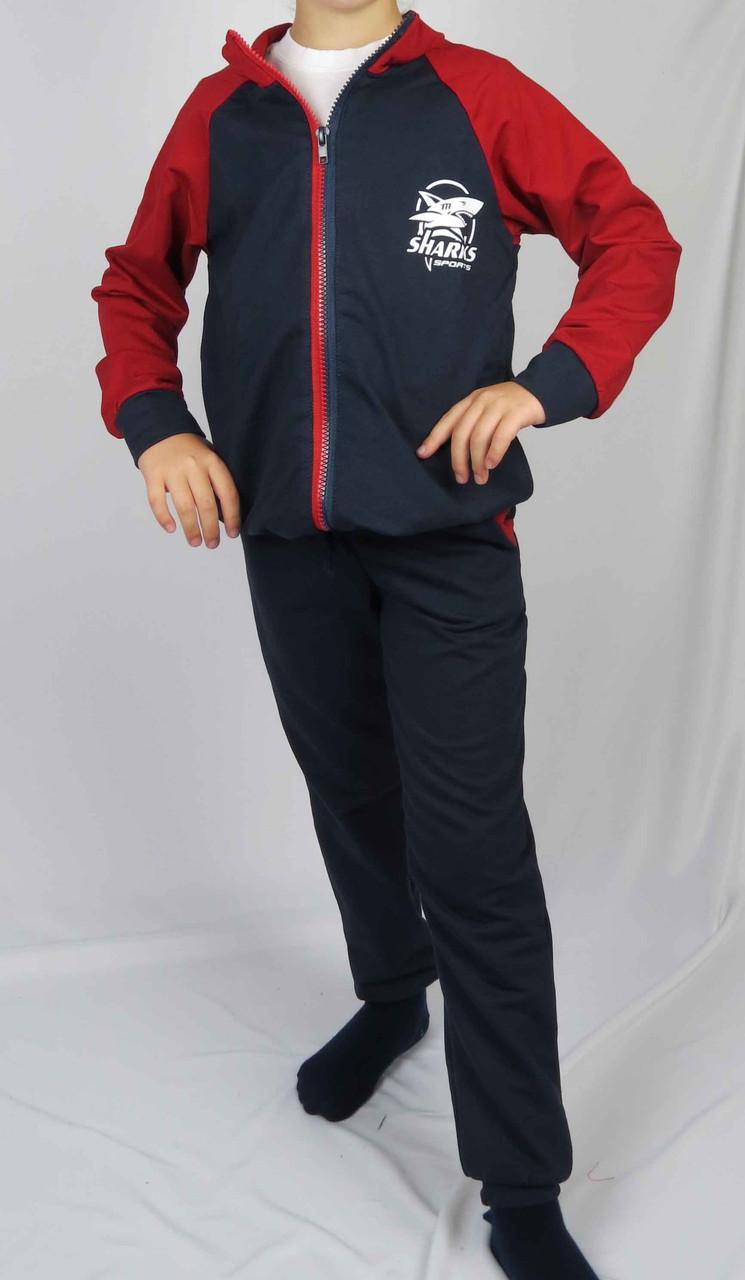 Костюм спортивный размеры 128 см - 146 см код 3-5 цвет синий с красным, фото 1
