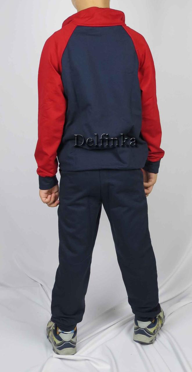 Костюм спортивный размеры 128 см - 146 см код 3-5 цвет синий с красным, фото 2