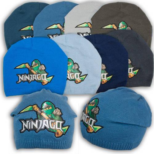 """Вязаная шапка для мальчика с вышивкой """"NinjaGo Ллойд"""", V143"""