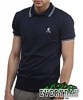 Тёмно-синяя мужская футболка POLO Ястребь поло есть опт