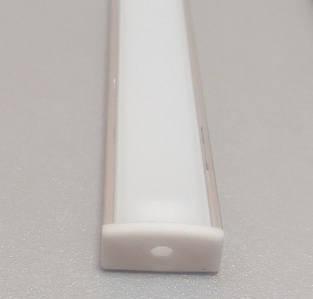 Профиль алюминиевый для светодиодной ленты или светодиодной линейки 1 и 2 м накладной