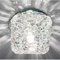 Декоративный точечный светильник Feron JD185 G9 прозрачный/ серый
