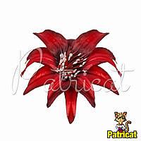 Цветы Крокус Красный из ткани 13 см 1 шт
